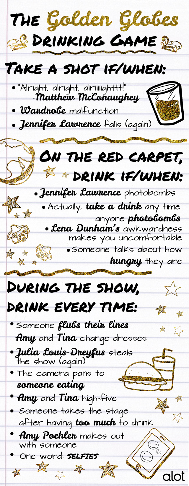 Drinking With the Stars: The Ultimate Golden Globe Awards Drinking Game