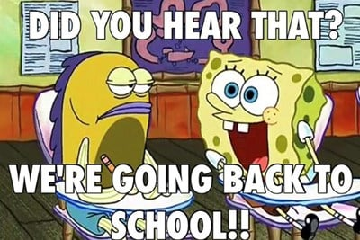 Back to School Spongebob Meme